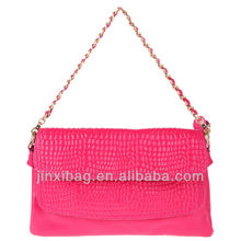 Girls cute genuine leather handbag with chain strap