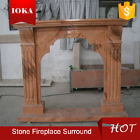marble indoor surround fireplace
