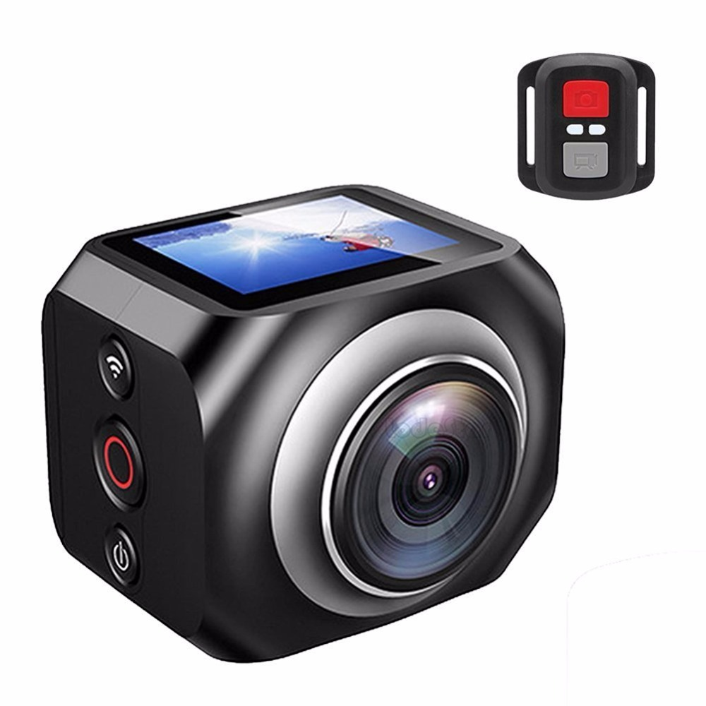 Original VR 360 Action Camera R360 220 degree Sports camera 1920 /30fps 1.5 Inch Screen Remote Control Action CAM