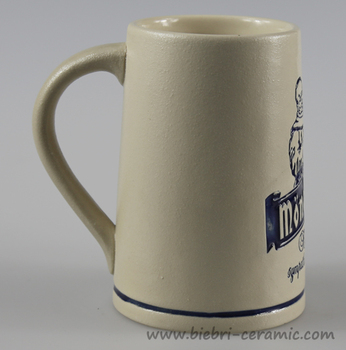 Antique 20 oz Sublimation Ceramic Beer mug Stein With Logo Decal Printing And Color Glazed