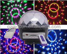 Lowest Price! High Quality Special Effect RGBW LED thunder Crystal disco Ball/ Professional Magic Luces para discotecas