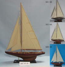 Antique hand scratched wooden Sailing ship model, 4 sets 60x11x87cm racing boat, Marine 2 C classic yacht replic vessel model