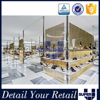 Commercial Good Design Upscale Shoe Store Furniture Decoration With Wall Shelves