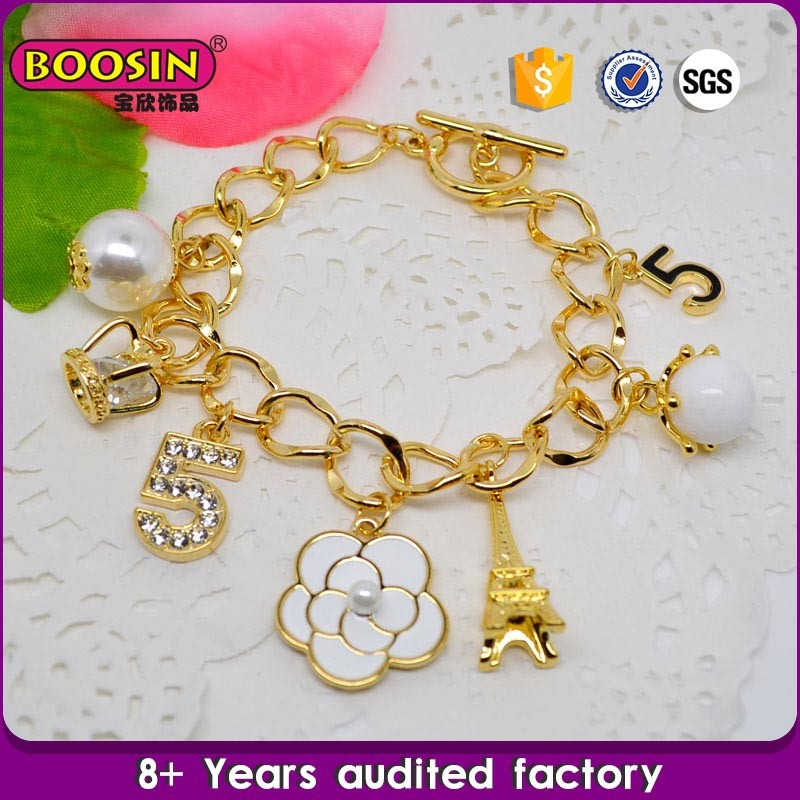 Manufacturer wholesale cheap bracelet gold covering fashion jewellery