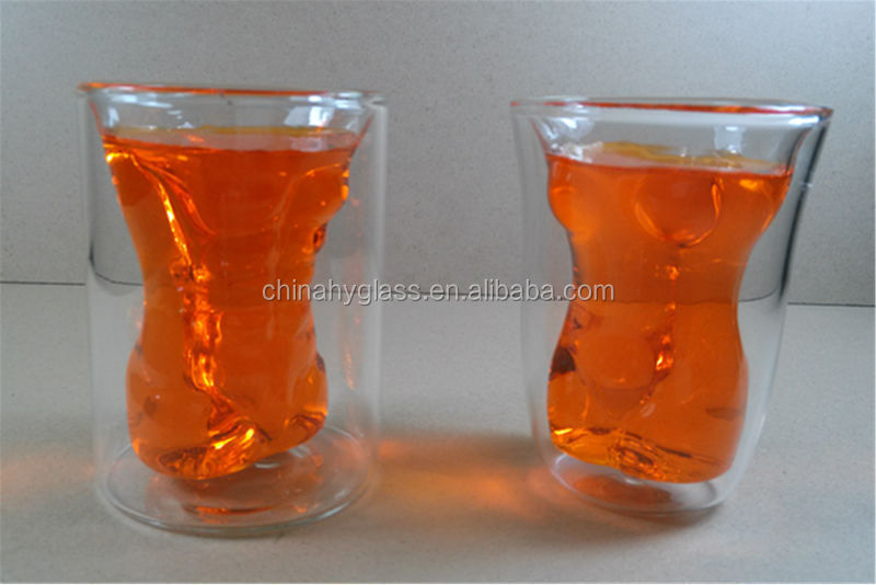 Effictive made by hand cup,glass cup double wall of Nice Quality