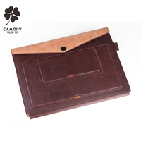 2016 leather factory new design standable color combined leather tablet cover case for ipad air 1/2/3 with card holder wallet