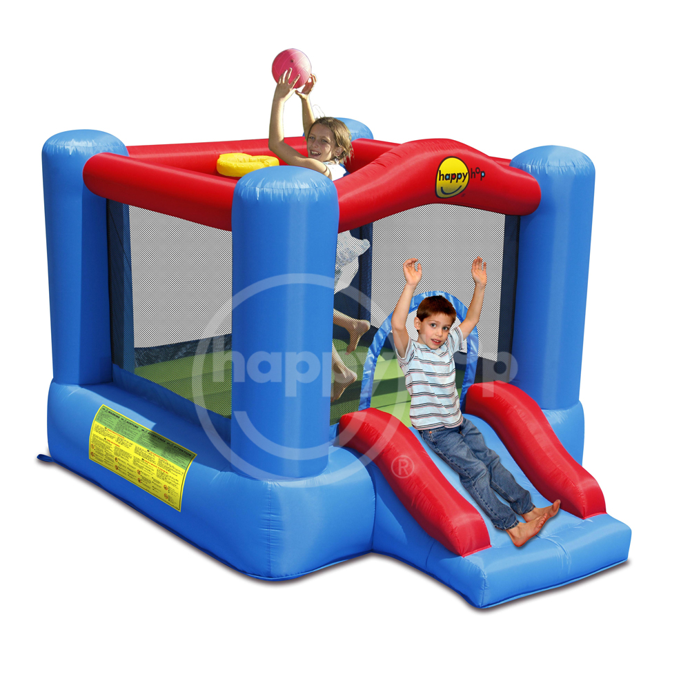 happyhop 2017 New Design 9270 -Slide and Hoop Bouncy Castle,cheap jumping castles for sale,indoor inflatable bouncers for kids