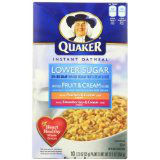 INSTANT OATMEAL QUAKER FRUIT & CREAM VARIETY PACK 12 CASE 12.3 OUNCE
