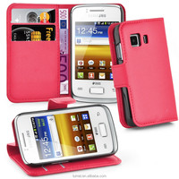 Wallet Book Flip Pu Leather Case Cover For Samsung Galaxy Young 2