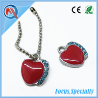 Apple Shape Wholesale Metal And Rhinestone Pendants Charms For Necklace