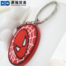 Cartoon Rubber key chain PVC keychains Soft rubber key ring