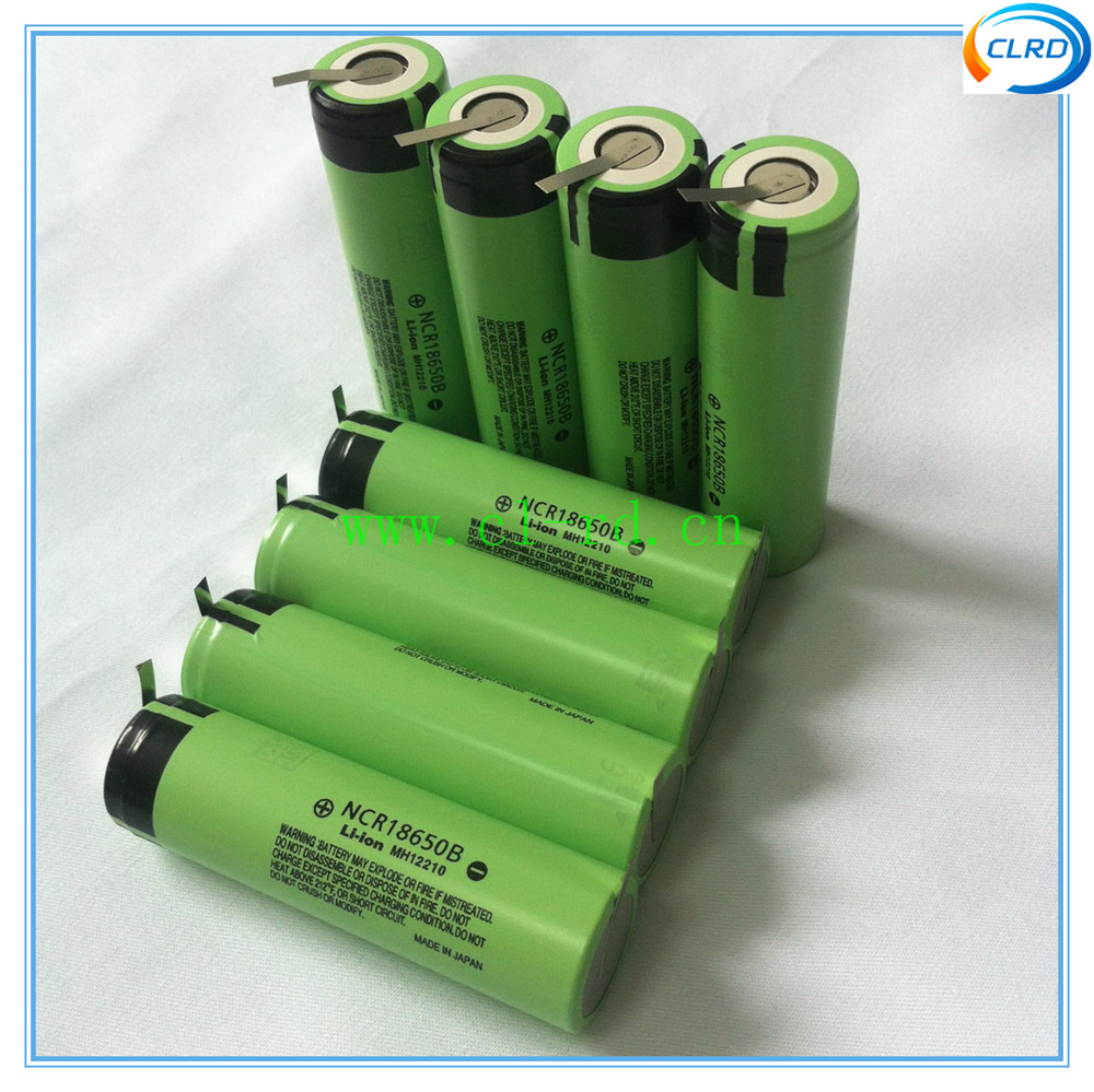 NCR18650B 3400mah 3.7v 18650 battery with pre-weld tabs