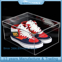 Custom High Quality Transparent Plastic Shoe boxes /Acrylic Clear Display Box For Store