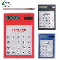 Transparent Solar Touch Screen LCD Clear Calculator 8 Digit