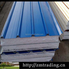 EPS steel overlapping sandwich roof panel exterior metal panels