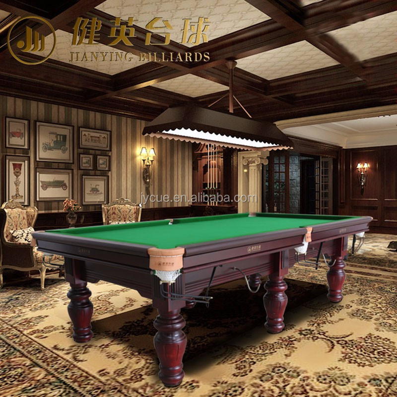Solid wood hand carved new design pool billiard table