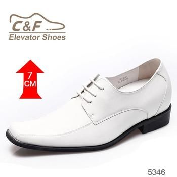 New durable fashion white wedding party formal men elevator dress shoes