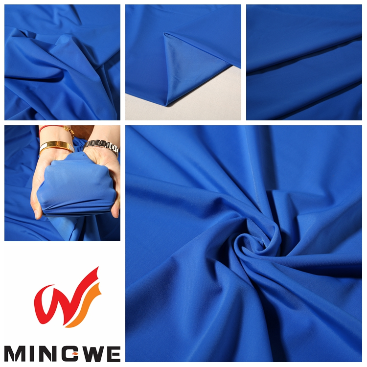 Polyester Spandex 4 Way Stretch Fabric / Wholesale Lycra Fabric For Lady Garment