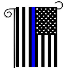 High quality Thin Red blue Line America flag 12x18 inches Garden flag