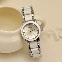 Women Japan Mvmt Stainless Steel Back Watch Stainless Steel Watch White Black