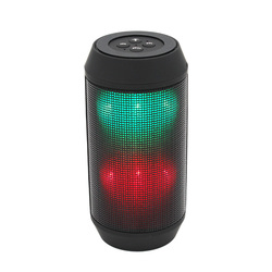 2017 Shenzhen New Cheap Sound Pulse Wireless Portable Bluetooth Speaker with radio Colorful LED Party Lights Red