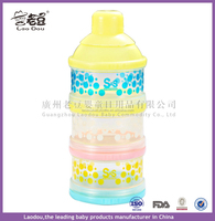 Certificated Safe Material Baby Infant Feeding Milk Powder Food Bottle Container 3 Cells Grid Box