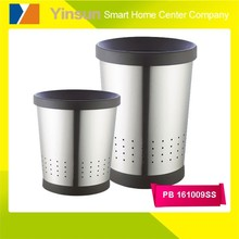 floor stand metal household bulk waste basket paper bin