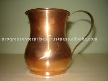 COPPER BRASS EPNS TRAVEL MUG ICE BUCKET Bar accessory