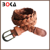 // london fashion week brown faux leather // and wax cord braided belt for women's dress //