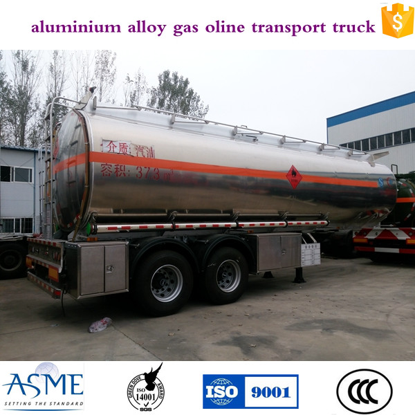 Chinese high quality aluminium alloy gasoline transport mobile fuel trailers