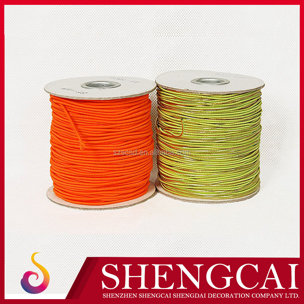 Hot sale top quality colored flat decorative elastic cord 3mm