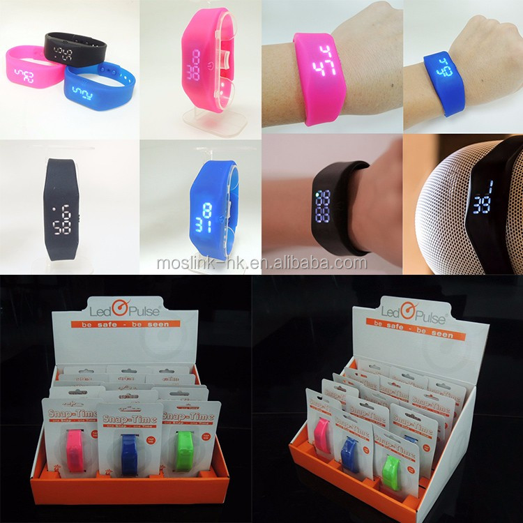 LED Silicon digital watch fashion design custom touch screen sport silicon led wrist watch