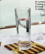 10 oz heavy base tall glass drinking water cup,glass milk cup