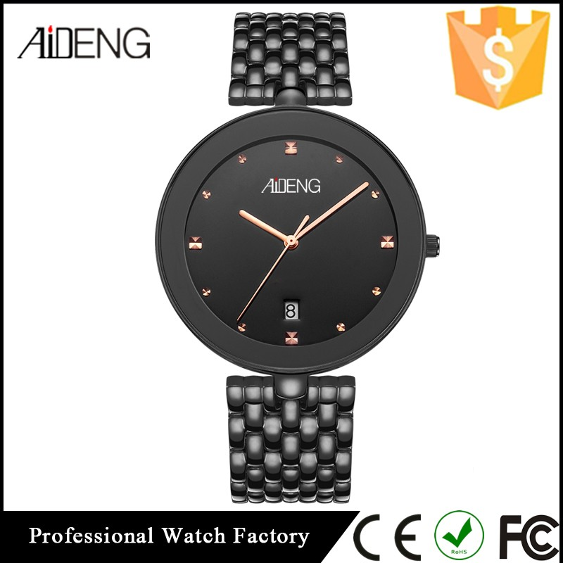 AIDENG Luxury Mens Watch, Business All Stainless Steel Quartz Watch, China Relojes Men