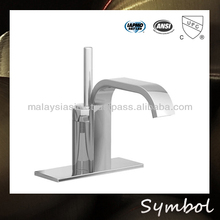 Polish and Chrome Finish Best Sell Deck Mounted Square Bath Faucet