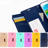 Magnetic Clasp Flip Leather Case for Samsung, High quality wallet cover case with card slot