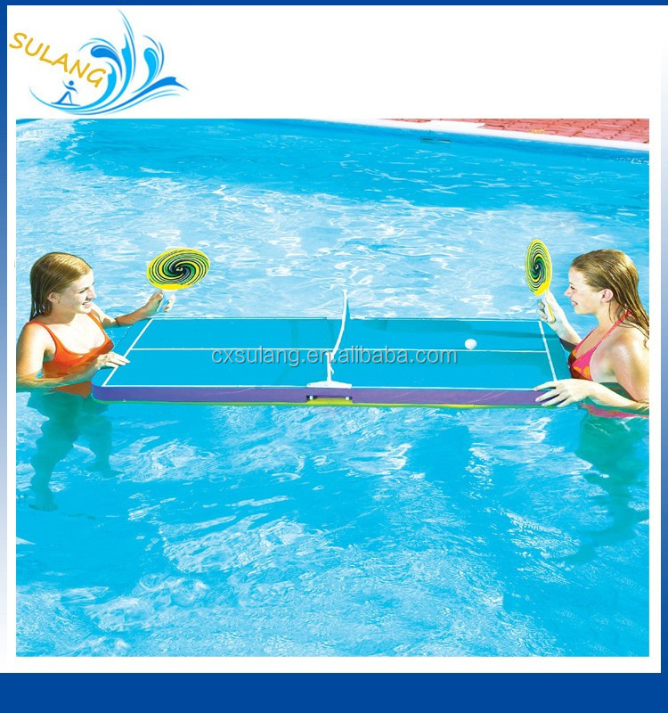 Swimline Floating Pool Ping Pong Beer Foam Table Tennis Game Paddles Party Snack