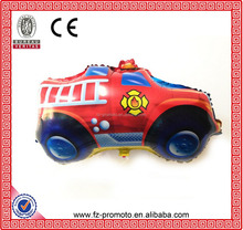 Upscale foil balloon large fire fighting truck shaped balloons Low MOQ accept with cartoon design