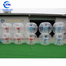 Hot sales TPU bubble soccer with hole inflatable body zorb ball bubble football for sale