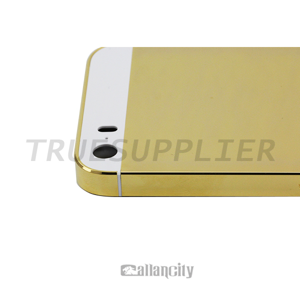 wholesale for iphone 5 5s 24k gold plating back cover housing