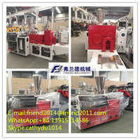 pvc pipe conical twin screw extruder/plastic pipe extruder equipment/double screw extrusion machine