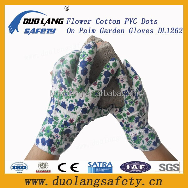 New mitten garden gloves flower pattern cotton garden gloves
