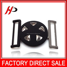 Fashion fancy zinc alloy metal las vegas belt buckles blanks for coat belts