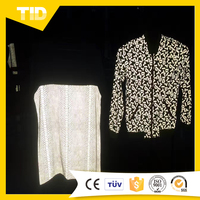 Silver/Iridescent Reflective Functional Cloth For Garment