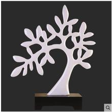 Fashion ivory color tree shaped resinic craft for home hotel decoration