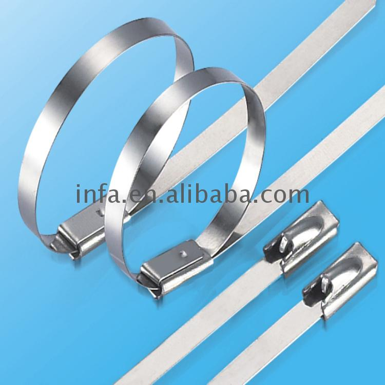 Custom Logo Self-Locking ss ball lock self-lock cable tie for sale