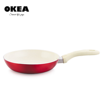 As seen on TV white ceramic frypan with metalic paint