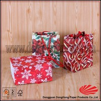 Decorative handmade Cheap Small Paper Gift Bags christmas gift bags wholesale