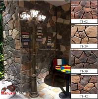Weather proof villa exterior light weight home depot stone wall