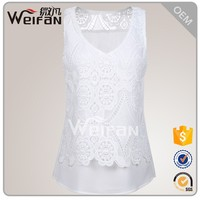 Ladies Lace Latest Design Sexy Women White Tight Tank Tops
